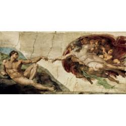 """Michelangelo """"La creazione di Adamo"""" - Capezzale Moderno d'Autore su Canvas da Artigianato Veneziano"""