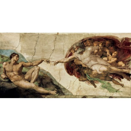 """Michelangelo """"La creazione di Adamo"""" - print on Canvas"""