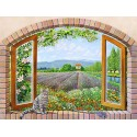 Del Missier, Design Picture with View from a Window in Provence for Home Decor Use