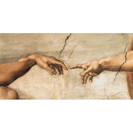 """Michelangelo """"La creazione di Adamo"""" particolare - Capezzale Moderno d'Autore su Canvas da Artigianato Veneziano"""