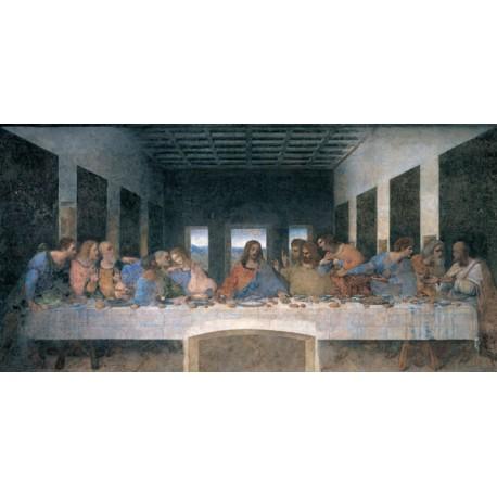 """Leonardo Da Vinci """"Ultima cena"""" - Rappresentazione Classica d'Autore su Canvas da Artigianato Veneziano"""