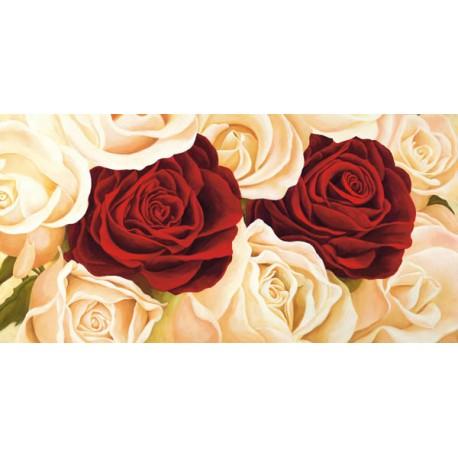 Composizione di Rose - Serena Biffi. Quadro Stampa Alta Risoluzione con Rose Bianche e Rosse