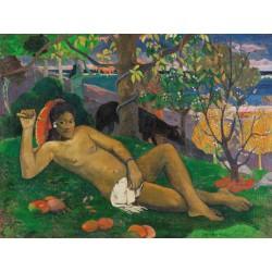 """Gauguin Paul """"Te arii vahine"""" - Quadro Pronto con Stampa Fine Art per Soggiorno, Ufficio o altro"""