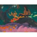 """Gauguin Paul """"Fatata te Miti """" - Quadro Pronto con Stampa Fine Art per Soggiorno, Ufficio o altro"""