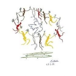 """Picasso Pablo -""""La ronde de la Junesse"""" stampa su pannello ecologico 60x80 pronto da appendere"""