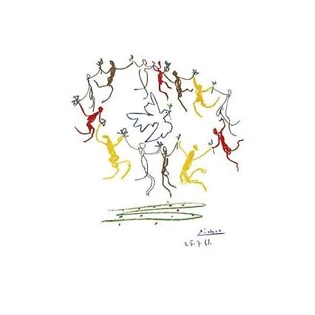 """Picasso Pablo -""""La ronde de la Junesse"""" artistic print on wood 60x80 ready to hang"""