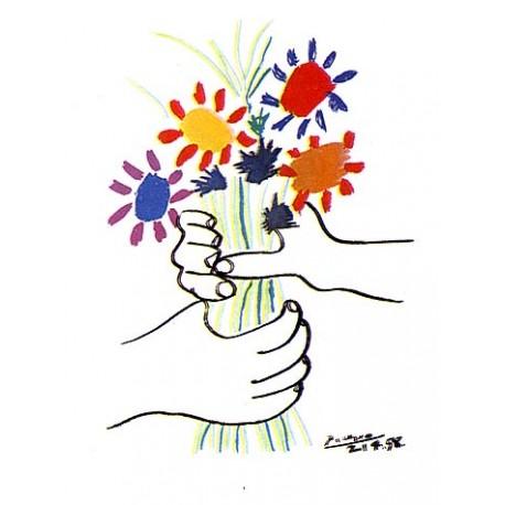 """Picasso Pablo -""""Bouquet"""" stampa su pannello ecologico 60x80 pronto da appendere"""