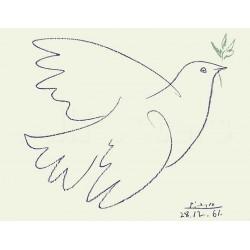 """Picasso Pablo -""""Colombe Bleue"""" stampa su pannello ecologico 60x80 pronto da appendere"""