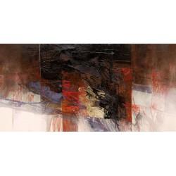 Censini -le nebbie dense - Quadro Astratto con Pennellate in Bianco e Nero, Stampa Fine Art su Tela Canvas