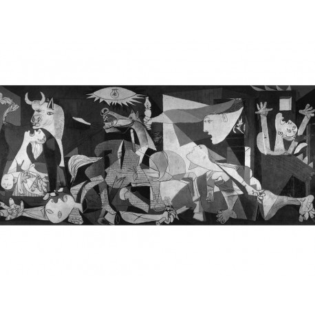 """Picasso Pablo -""""Guernica"""" artistic print on wood 130x60 ready to hang"""