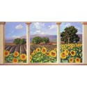 """Del Missier - """"Window over Sunflowers"""". High quality Print for Home Decor Use"""
