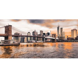 Brooklyn Bridge and Lower Manhattan-Pangea Images, HandMade To Measure Home Decor Picture