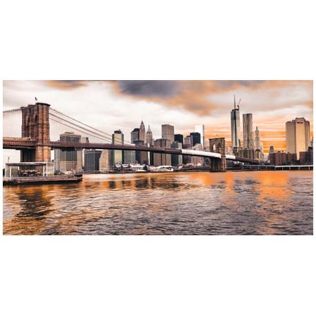 Brooklyn Bridge and Lower Manhattan-Pangea.quadri moderni soggiorno,misure/supporti a scelta