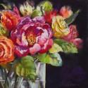 Bundles of Joy II - Nel Whatmore - Quadro con Tulipani pittorici Romantici - Stampa d'Autore su Tela Cotone per Soggiorno