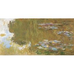 C. Monet-Water Lily Pond. Stampa ad Alta Risoluzione delle Classiche Ninfee su Tela Canvas e possibilità di Ritocco Materico