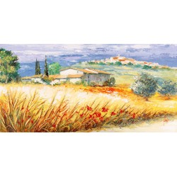 "Luigi Florio - ""Casa in collina"" high quality print on Canvas or Paper"