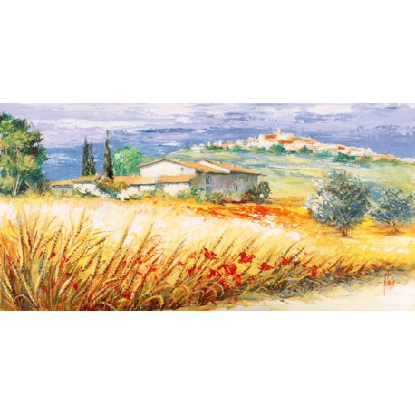 """Luigi Florio - """"Casa in collina"""" high quality print on Canvas or Paper"""