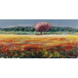 "Luigi Florio - ""L'albero rosa"" high quality print on Canvas or Paper"
