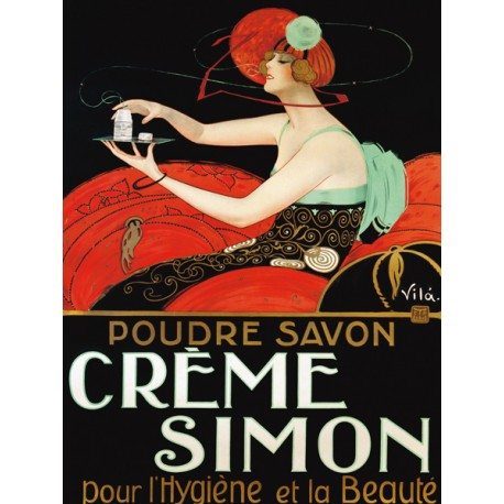 Creme Simon - Vila. High quality Print on Canvas or Artistic Paper