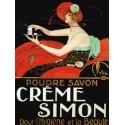 Creme Simon - Vila. Quadro Vintage con Stampa Fine Art su Canvas o Carta.