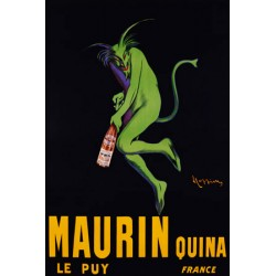 Maurin Quina, ca. 1906 - Leonetto Cappiello. Quadro Vintage con Stampa Fine Art su Canvas o Carta.