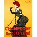 Champagne De Rochegré - Leonetto Cappiello . High quality Print on Canvas or Artistic Paper