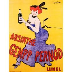Absinthe Gempp Pernod 1903 - Leonetto Cappiello . Quadro Vintage con Stampa Fine Art su Canvas o Carta.