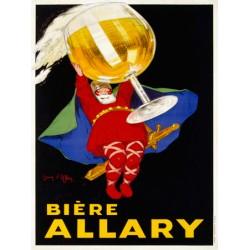 Jean D'Ylen - Biere Allary, 1928. Quadro Vintage con Stampa Fine Art su Canvas o Carta.