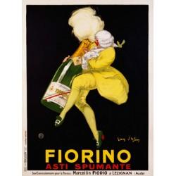 Jean D'Ylen - Fiorino Asti Spumante, 1922. Quadro Vintage con Stampa Fine Art su Canvas o Carta.