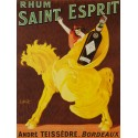 Rhum Saint Esprit - Spring. Quadro Vintage con Stampa Fine Art su Canvas o Carta.