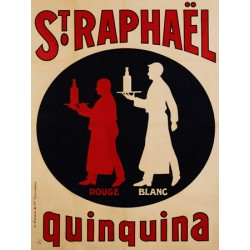 Anonymous St. Raphael Quinquina, 1925 Quadro Vintage con Stampa Fine Art su Canvas o Carta.