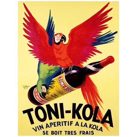 Toni Kola - Robys. Quadro Vintage con Stampa Fine Art su Canvas o Carta.