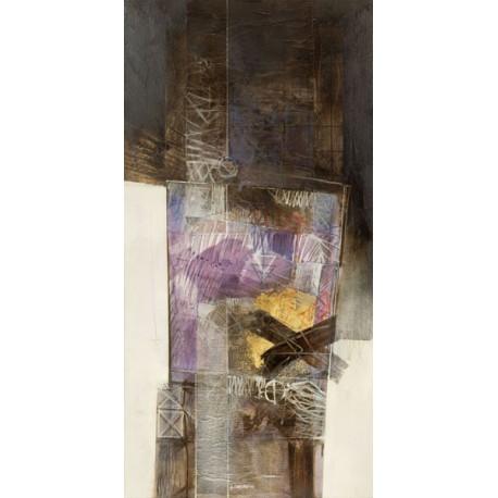 Censini - senza titolo Quadro Astratto con Pennellate in Bianco e Nero, Stampa Fine Art su Tela Canvas