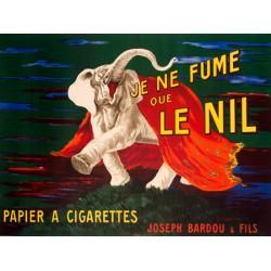 Leonetto Cappiello Je ne fume que Le Nil, 1912 Quadro Vintage con Stampa Fine Art su Canvas o Carta.