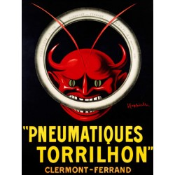 Leonetto Cappiello Pneumatiques Torrilhon High quality Print on Canvas or Artistic Paper