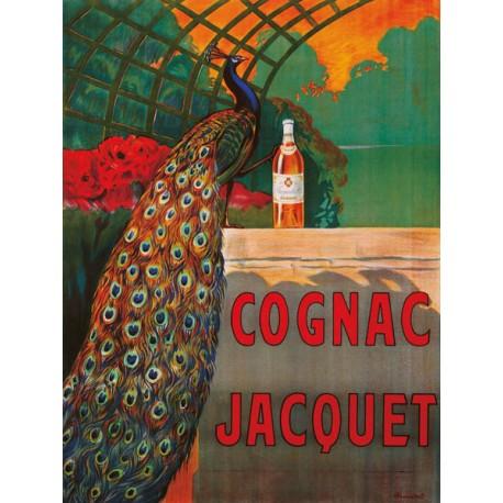 Camille Bouchet - Cognac Jacquet ca. 1930 Quadro Vintage con Stampa Fine Art su Canvas o Carta.