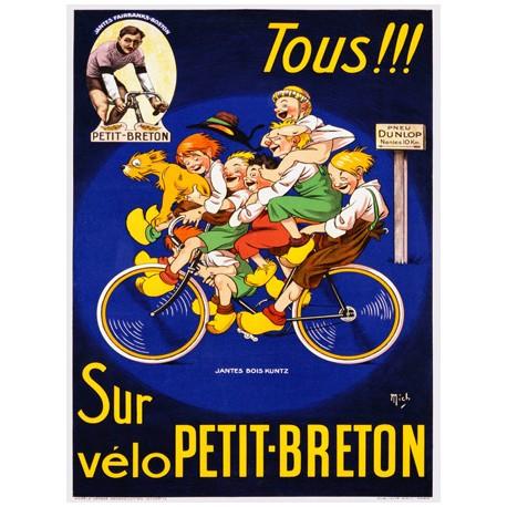 Anonymous Petit Breton Quadro Vintage con Stampa Fine Art su Canvas o Carta.