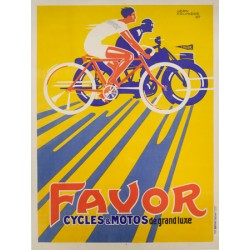 Anonymous Favor Cycles et Motos, 1927 High quality Print on Canvas or Artistic Paper