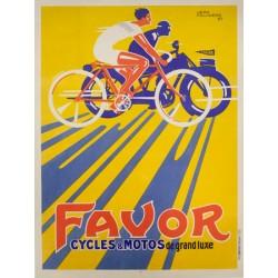Anonymous Favor Cycles et Motos, 1927 Quadro Vintage con Stampa Fine Art su Canvas o Carta.