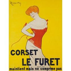 Leonetto Cappiello Corset le Furet, 1901 Quadro Vintage con Stampa Fine Art su Canvas o Carta.