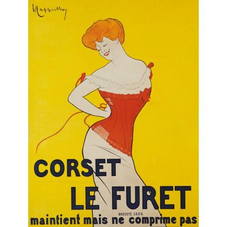 Leonetto Cappiello Corset le Furet, 1901 High quality Print on Canvas or Artistic Paper