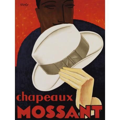 Olsky Chapeaux Mossant, 1928 Quadro Vintage con Stampa Fine Art su Canvas o Carta.