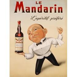Anonymous Le Mandarin L'Apéritif Préféré, 1932 Quadro Vintage con Stampa Fine Art su Canvas o Carta.