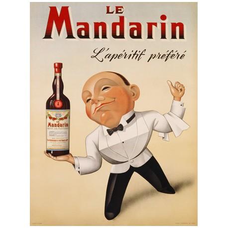 Anonymous Le Mandarin L'Apéritif Préféré, 1932 High quality Print on Canvas or Artistic Paper
