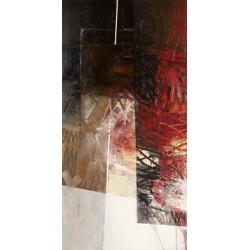 Censini - Paesaggio I Quadro Astratto con Pennellate in Bianco e Nero, Stampa Fine Art su Tela Canvas