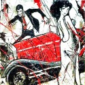 "Lupin & Fujiko ""Marriage"" Totally Haindpainted Picture, Raw Juta Based"