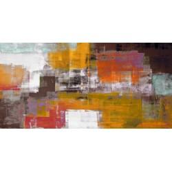 The Desert - Alessio Aprile - Quadro Astratto stilizzato dai colori vivaci, Stampa Fine Art su Tela Canvas
