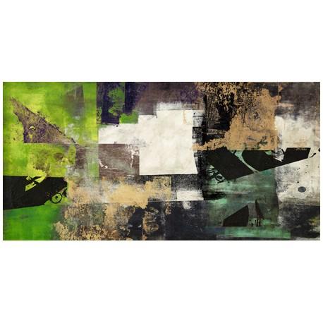 Emerald - Alessio Aprile - Quadro Astratto stilizzato dai colori vivaci, Stampa Fine Art su Tela Canvas