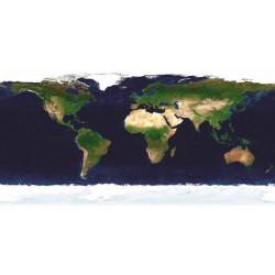 NASA-La Terra di Giorno.Bellissimo Quadro con Vista sul Mondo dallo Spazio, Canvas o Poster