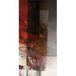 Censini - Paesaggio II Quadro Astratto con Pennellate in Bianco e Nero, Stampa Fine Art su Tela Canvas